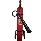 OPTIMAX Fire Extinguisher Carbon Dioxide (CO2) [CD-25 Trolley] - Pemadam Kebakaran
